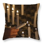 Sacrificial Candles 3 Throw Pillow