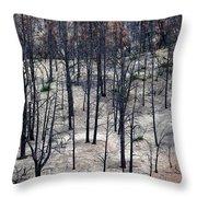 Sad Forest Throw Pillow