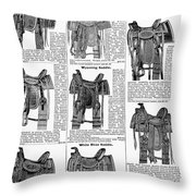 Saddles, 1895 Throw Pillow