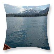 Safari Rose.on Lake Tahoe Throw Pillow