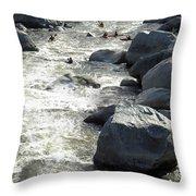 Safely Through The Boulders Throw Pillow