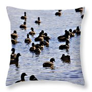 Safety In Numbers Throw Pillow by Douglas Barnard