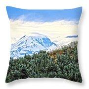 Sage Mountain Throw Pillow