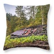 Sagging Rooftop 1 Throw Pillow