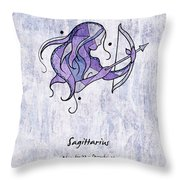 Sagittarius Artwork Throw Pillow