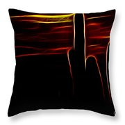 Saguro Cactus Silhouette Throw Pillow