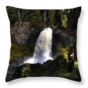 Sahalie Falls Throw Pillow