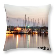 Sail Boat On The River Throw Pillow