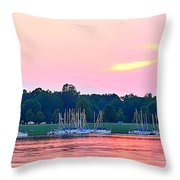 Sail Boats Pretty In Pink  Throw Pillow