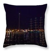 Sailboat And Maltese Hawk Throw Pillow