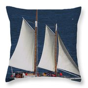 Sailboat In The San Francisco Bay . 7d7900 Throw Pillow
