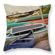 Sailboats Throw Pillow by Methune Hively