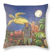 Sailfish Splash Park Mural 7 Throw Pillow