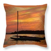 Sailin' On Dewey Throw Pillow