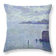 Sailing Boats In An Estuary Throw Pillow