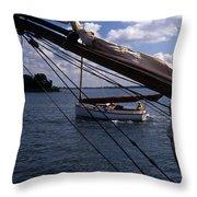 Sailing Coastal Maine Throw Pillow
