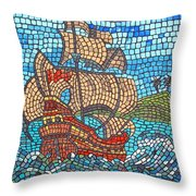 Sailing Home Throw Pillow