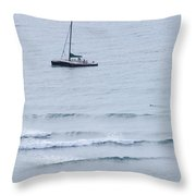 Sailing In For The Evening Throw Pillow
