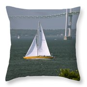 Sailing Newport Throw Pillow