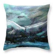 Sailing Over The Sea Throw Pillow