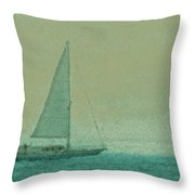 Sailing The Coast Throw Pillow