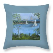 Sailing The Delaware Throw Pillow