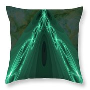 Sailing The Electric Green Sea Throw Pillow
