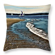 Sailing The Puget Sound Throw Pillow