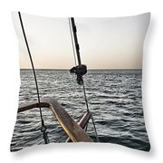Sailing The Seas Throw Pillow