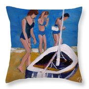 Sailing The Wildflower Throw Pillow