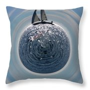 Sailing The World Throw Pillow