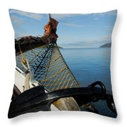 Sailing Through The Narrows Throw Pillow