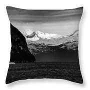 Sailing To Valdez Throw Pillow