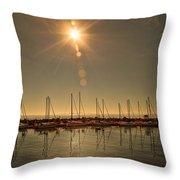Sailing Under The Sun White Rock Bc Throw Pillow