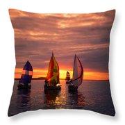 Sailing Yachts Throw Pillow