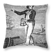 Sailor, 18th Century Throw Pillow