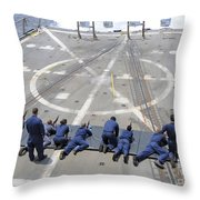Sailors Fire M4a1 Carbine Assault Throw Pillow