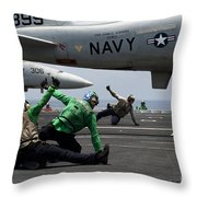 Sailors Give Launch Approval For An Throw Pillow