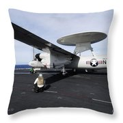 Sailors Guide An E-2c Hawkeye Throw Pillow