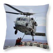 Sailors Hook An Ammunition Pallet To An Throw Pillow