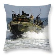 Sailors Navigate The Waters Throw Pillow