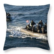 Sailors Participate In A Visit, Board Throw Pillow