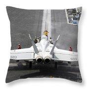 Sailors Perform Pre-launch Checks On An Throw Pillow