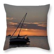 Sailor's Sunset Throw Pillow