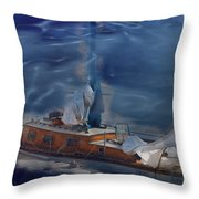 Sails Down Throw Pillow