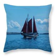 Sails Off The San Juans Throw Pillow