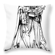 Saint Cecilia Throw Pillow by Granger