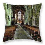 Saint Emilion Church Throw Pillow