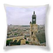 Saint Etienne Du Mont Throw Pillow