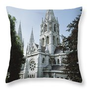 Saint Finbarres Cathedral, Cork City Throw Pillow